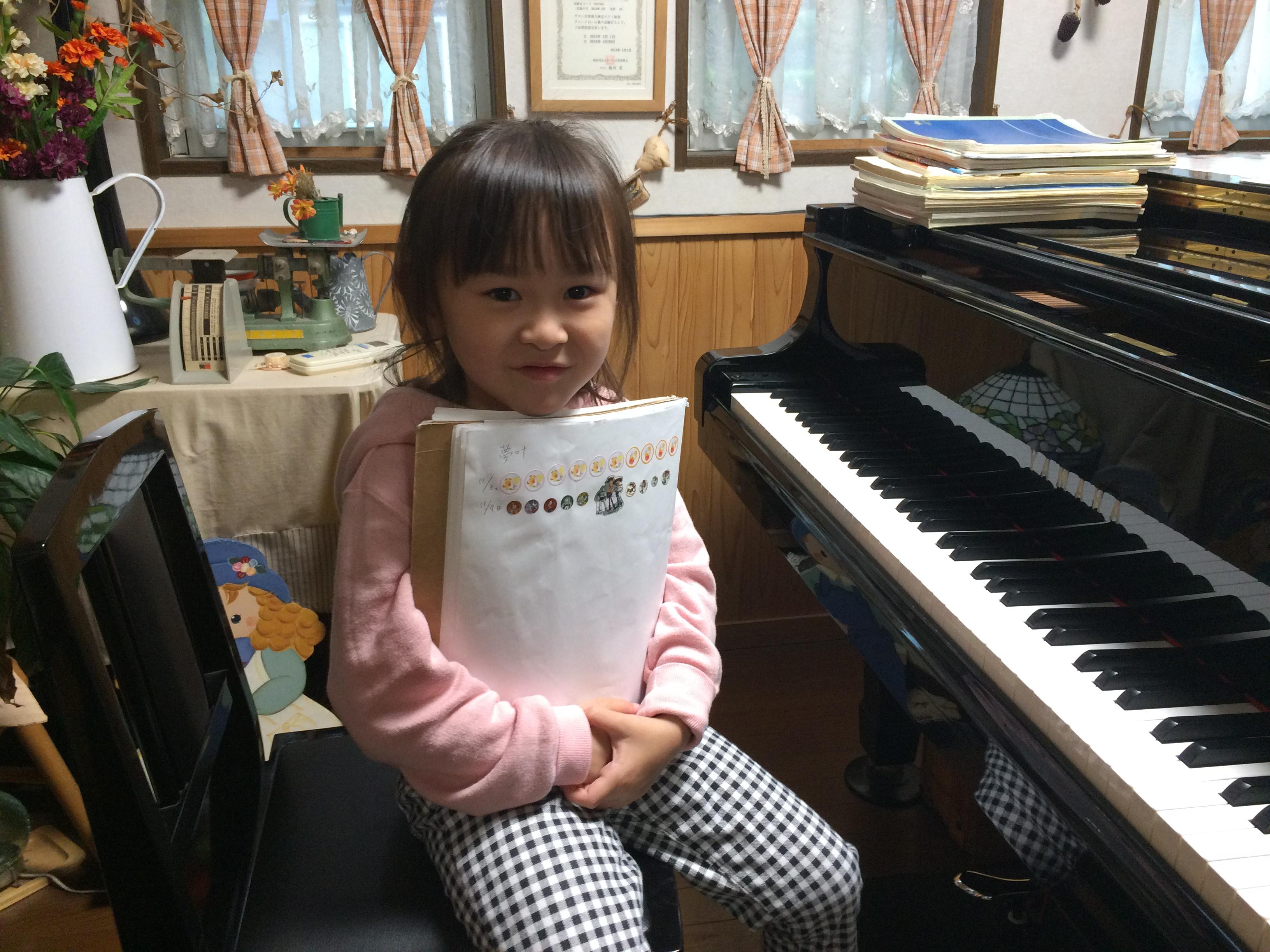 11.9 y ピアノノーミス練習