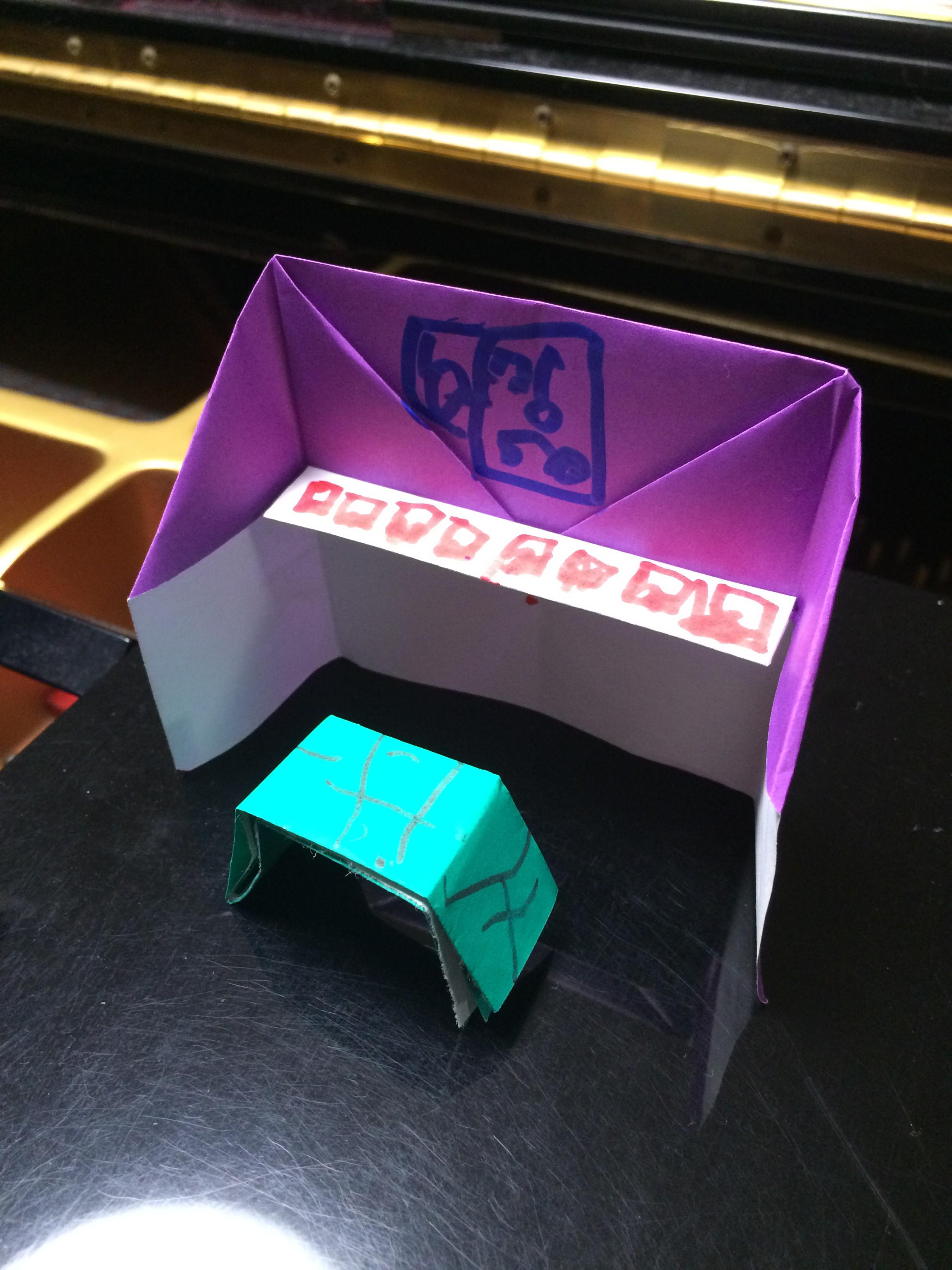 折り紙でピアノ