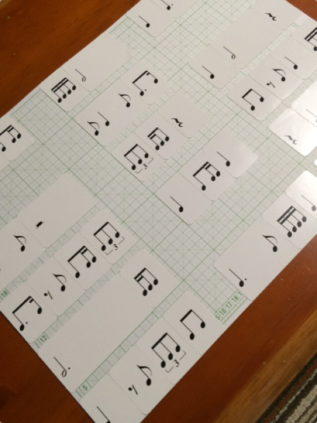 ピアノレッスングッズ リズムカード2 仙台市泉区レーヴ・ジュール音楽院
